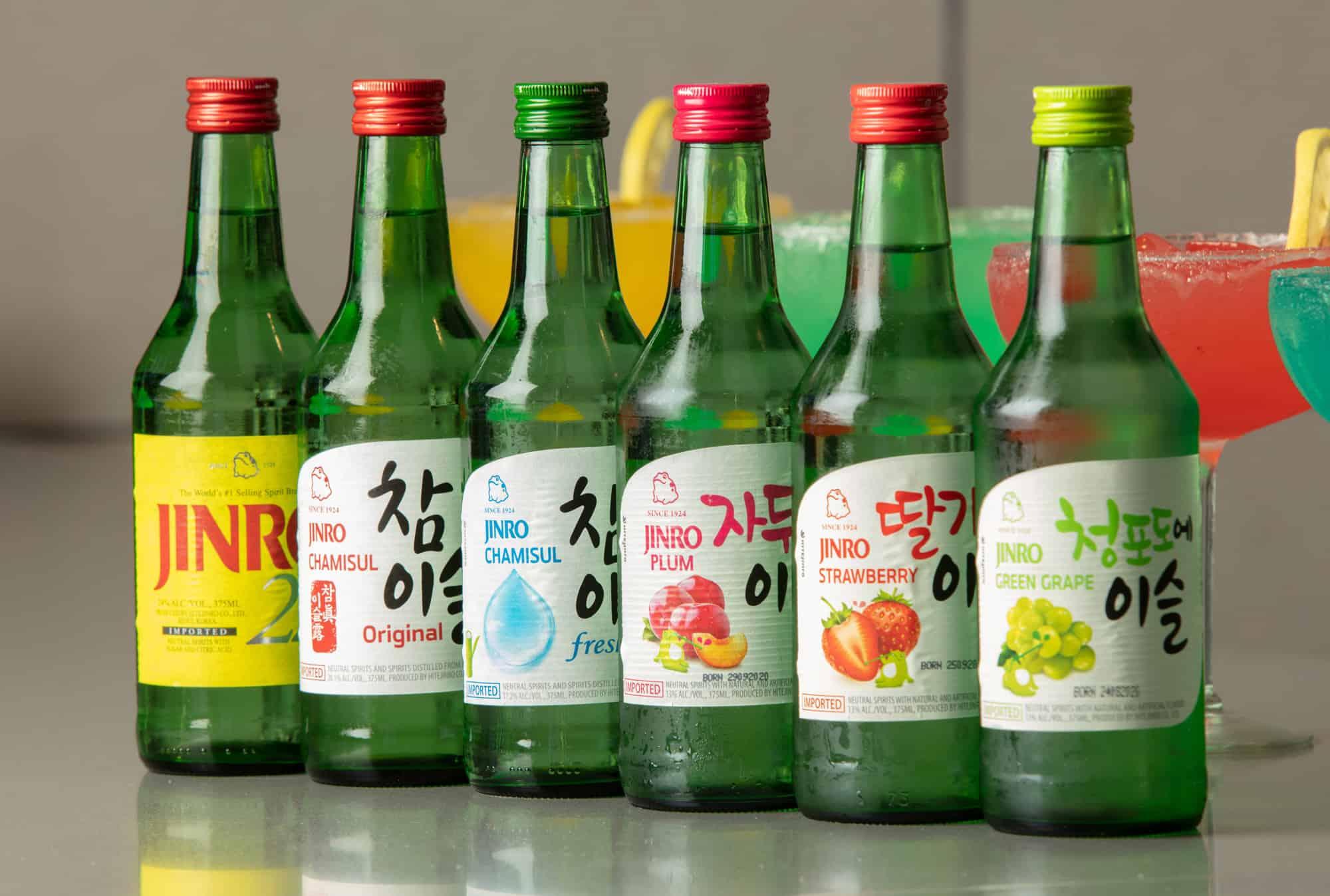 Soju Bottles at Bawi Korean BBQ in Springfield, MO